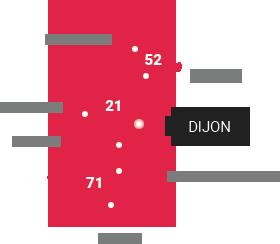 carte de compétence de la SCP COURTOIS - BLIGNY Huissiers de Justice à Dijon en Côte d'Or (21)